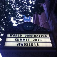 World Domination Summit sign